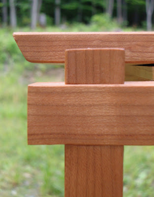 Shoji series end tables - cherry
