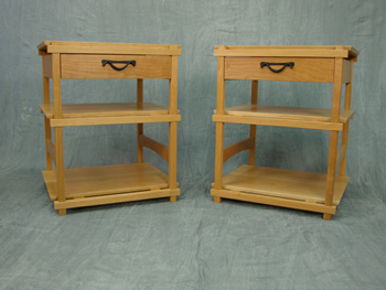 Shoji series end tables - cherry, 20(W) x 24(H) x 18(D)