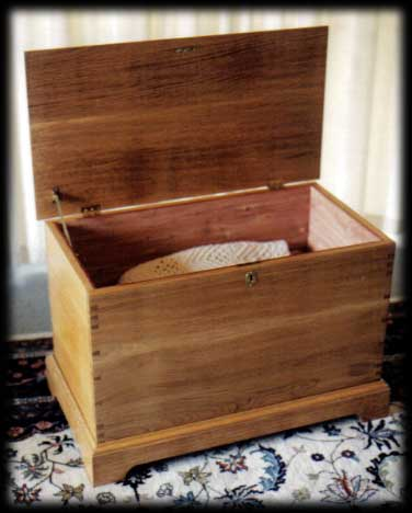 Cedar-lined Chest – white oak
