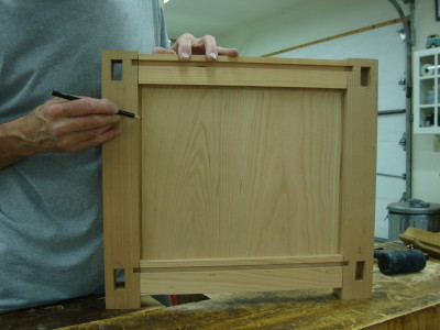 This is a view of the panel inserted in the frame.