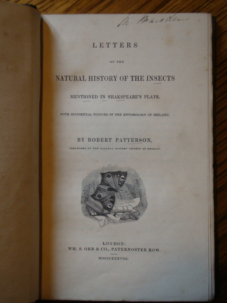 Gladstone's Library has a large Shakespeare collection. Here's the title page of an interesting book published in 1838.